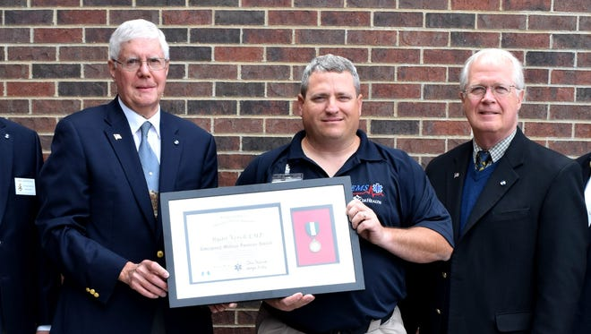 Ryan Verch honored with EMT Commendation Medal awarded by the Sons of the American Revolution