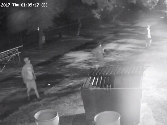 Surveillance image of individuals Buena Vista Township