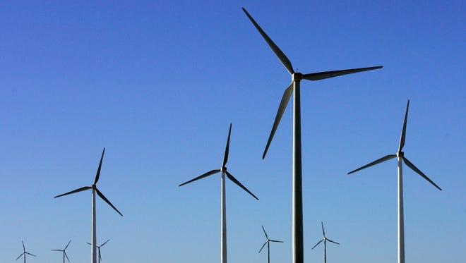 Windmills near Lamar, Colo.