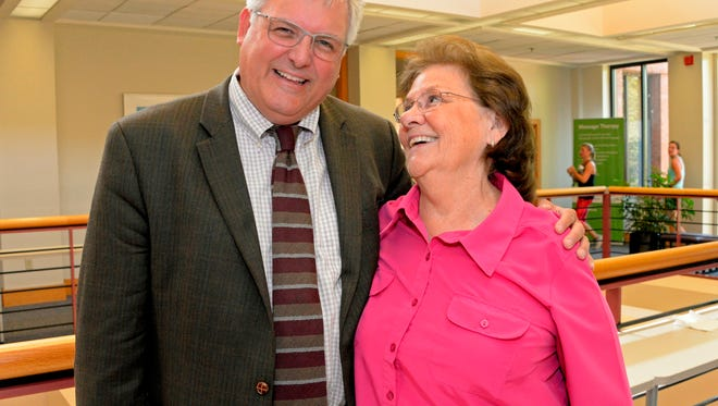Beth Baker with Dr. Jeff Edenfield of GHS Cancer Institute