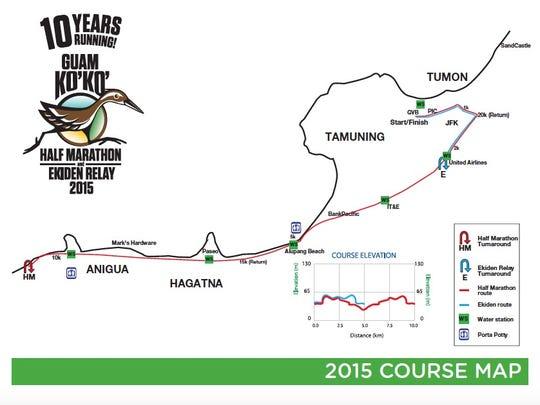 Ko'ko' Half Marathon course