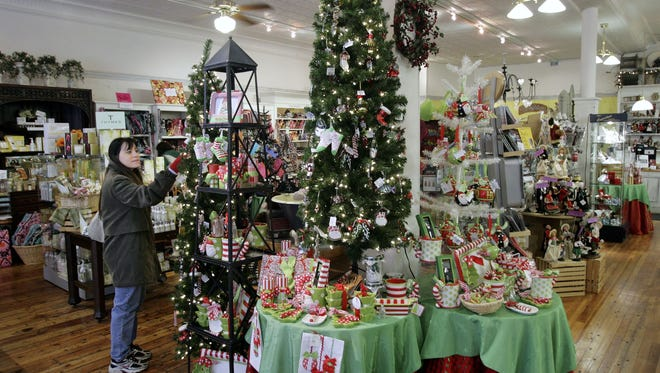 Christmas merchandise is on display at Connors Mercantile in Corning in this 2010 photo.