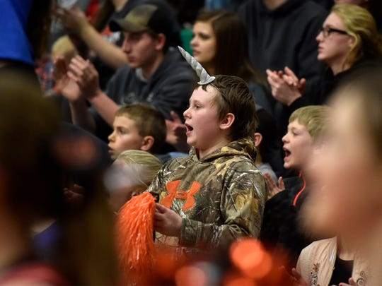 Chinook fans cheer at last year's Northern C tournament in Great Falls.