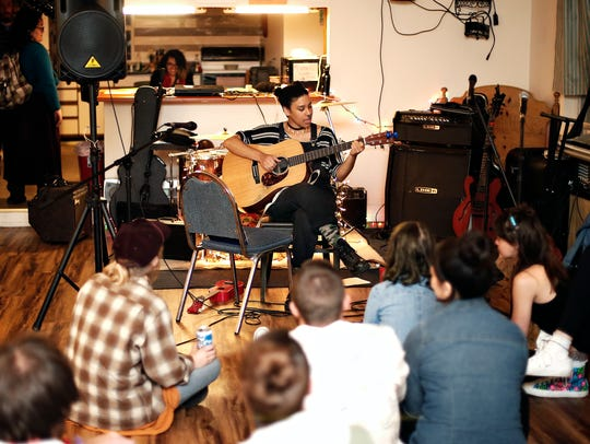 Mary Fox performs during a house show at the newly