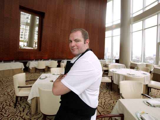 Chef Thomas Lents in the dining room of the restaurant