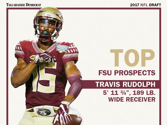 Florida State wide receiver Travis Rudolph NFL draft card.