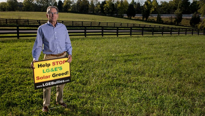 LG&E hopes to build a solar panel farm near the intersection of Wooded Lake Drive and Conner Station Road east of Louisville. Some residents of the area, like Jerry Karem, have not been pleased by the plan. Karem sued LG&E over the planned farm and lost, but is planning to appeal. Sept. 28, 2017