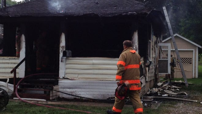 Mansfield firefighter responded Saturday to a fire that destroyed a house on Lida Street.