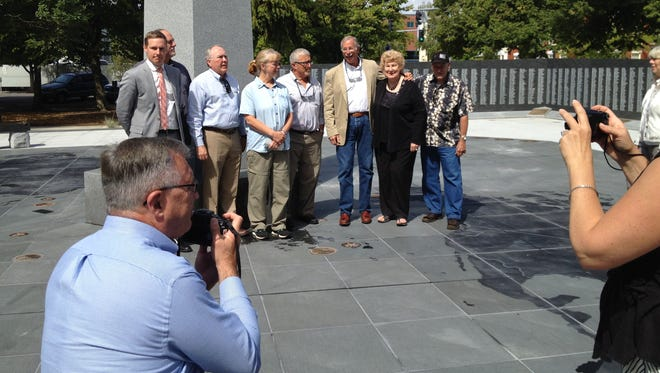 The board of the Oregon World War II Memorial Foundation, which raised the funds for the $1.248 million project, passes the torch to the Historical Outreach Foundation.