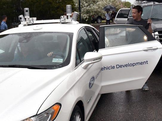 Facebook CEO Mark Zuckerberg took a ride in a Fusion