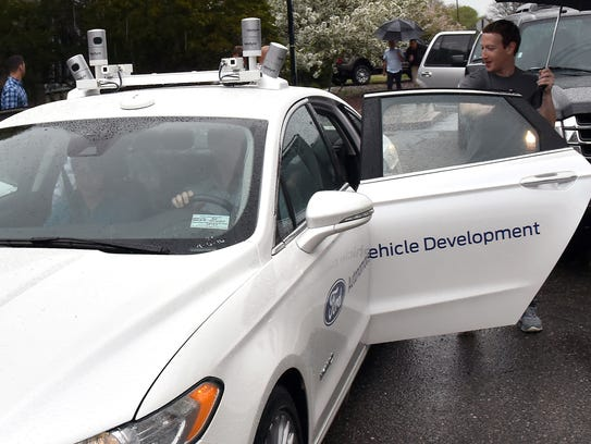 Facebook CEO Mark Zuckerberg took a ride in a Fusion