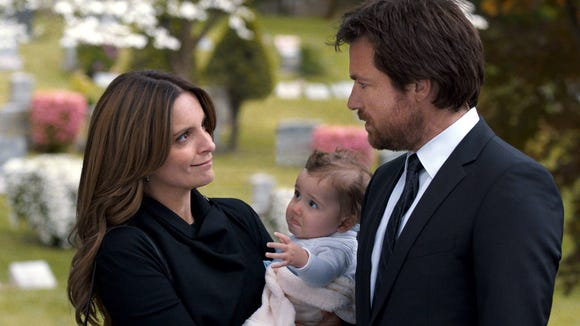 """From left, Tina Fey as Wendy Altman, and Jason Bateman as Judd Altman, in a scene from the film, """"This Is Where I Leave You."""""""