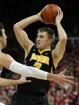 Josh Oglesby missed Iowa's 71-55 win against Maryland with an illness. He'll be available for Thursday's game vs. Minnesota.
