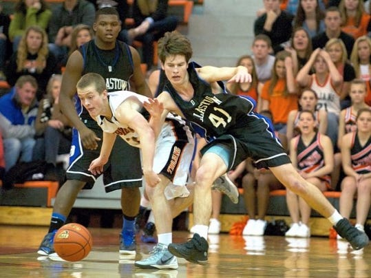 Ben Doorn (41) scored eight points in Dallastown's win at York Suburban.