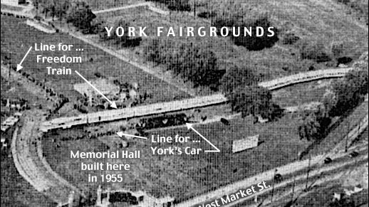 Northward Aerial View of the Freedom Trail within the York Fairgrounds, York, PA, on October 10, 1948