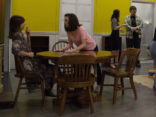 """Regis theater students rehearse for their upcoming production of """"Southern Hospitality"""""""