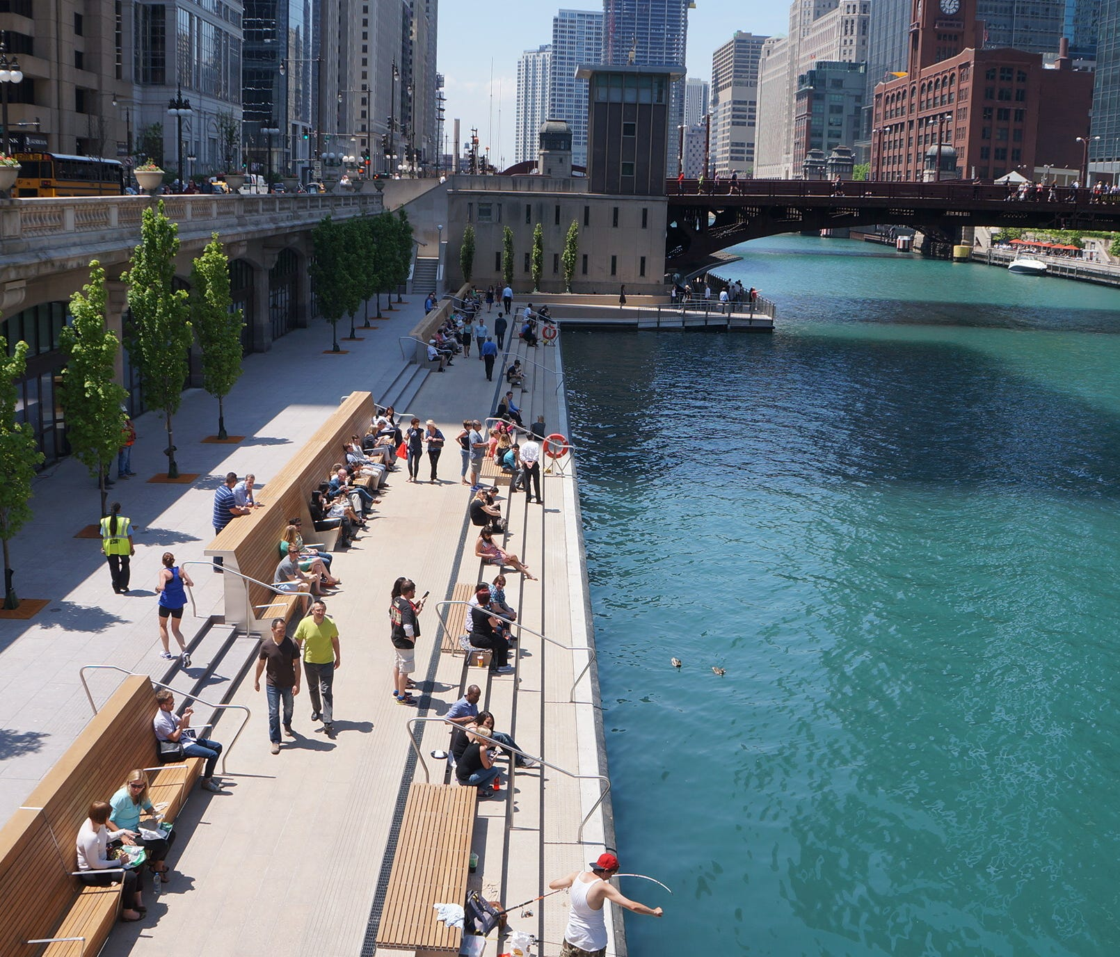 The Chicago Riverwalk was extended late last year.