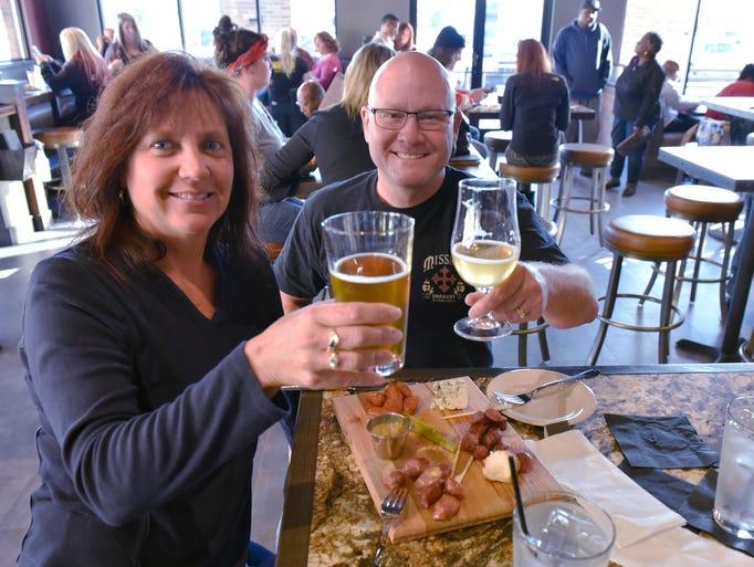 Susan and Richard Urban, of Canton, enjoying a Sea