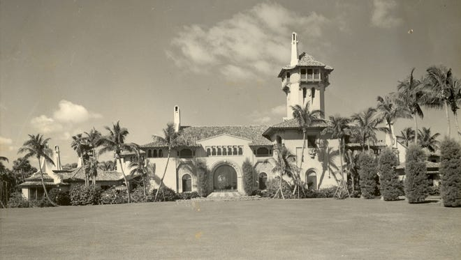 "A historic shot of Mar-a-Lago before it was the ""Winter White House."""