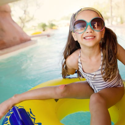The lazy river tubing is perfect  for when kids and