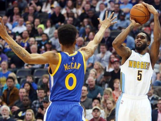 USP NBA: GOLDEN STATE WARRIORS AT DENVER NUGGETS S BKN DEN GSW USA CO