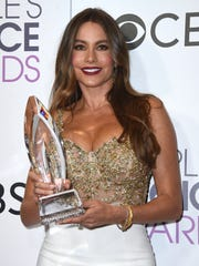 Sofia Vergara en los People's Choice Awards 2017.