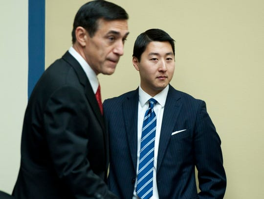 Rep. Darrell Issa, R-Calif., and aide Kurt Bardella