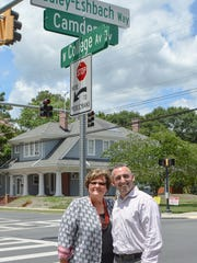SU president Janet Dudley-Eshbach (left) and Mayor Jake Day (right). Courtesy of the City of Salisbury.