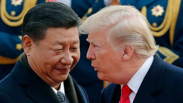 Trump with Chinese president Xi Jinping on Nov. 9,
