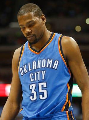 Thunder forward Kevin Durant will have foot surgery, ending his season.