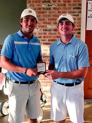 Eric Ricard (left) and Philip Barbaree Jr. were co-medalists and swept the available berths at Monday's U.S. Amateur qualifier in Springfield.