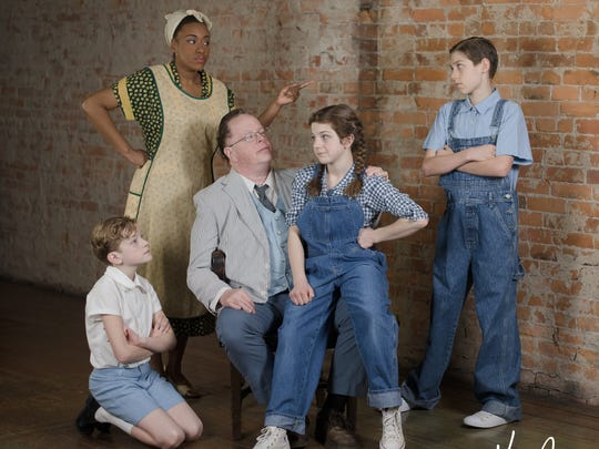 "Cast of Muncie Civic Theatre's ""To Kill a Mockingbird."""
