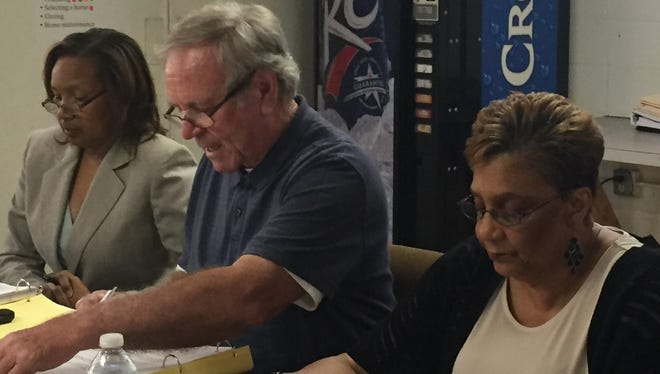 SMILE officers include, from left, Deidre Ledbetter, parliamentarian; Thomas Guidry, president; and Geri Brown, secretary, shown at a July 24, 2017, meeting in New Iberia, Louisiana.