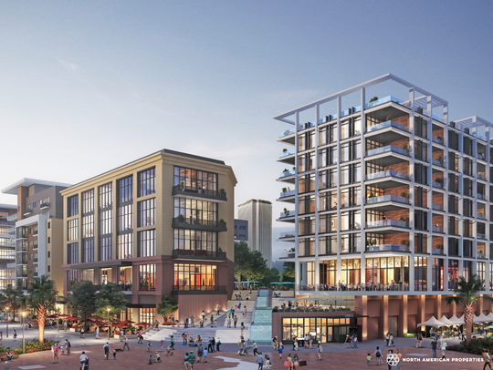 A rendering for the proposed Cascades Project in Tallahassee
