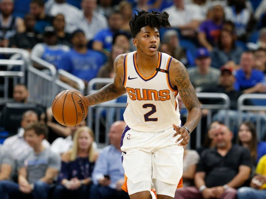 Mar 24, 2018; Orlando, FL, USA;Phoenix Suns guard Elfrid Payton (2) drives to the basket against the Orlando Magic during the second half at Amway Center. Mandatory Credit: Kim Klement-USA TODAY Sports