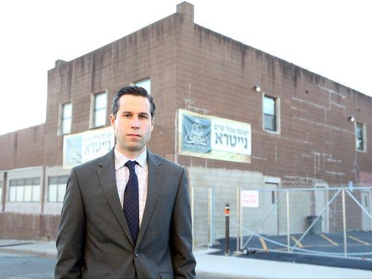 State Assemblyman Kenneth Zebrowski outside a yeshiva