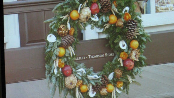 Wreath at Colonial Williamsburg.