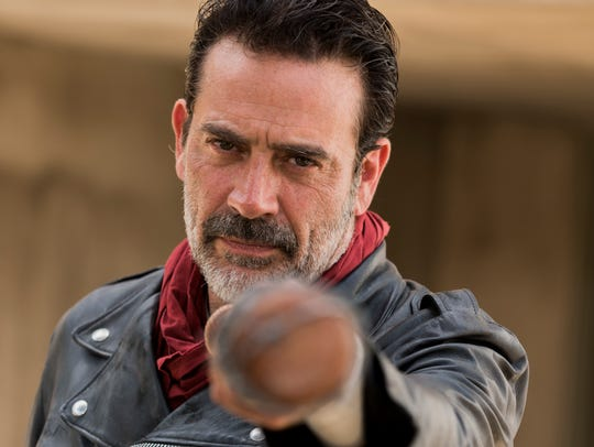 "Jeffrey Dean Morgan is the bat-wielding Negan in ""The"