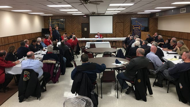 The Firefighters' Association of New York met Saturday, March 4 in Montrose to discuss the organization's legislative agenda. The focus this year will be cancer coverage for volunteer firefighters.