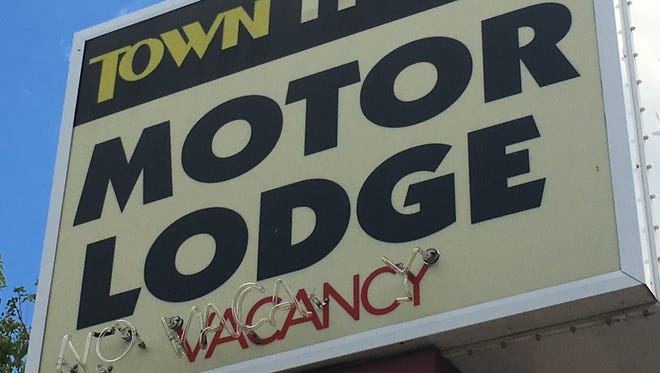 The Town House Motor Lodge is at the corner of Second Street and Arlington Avenue.