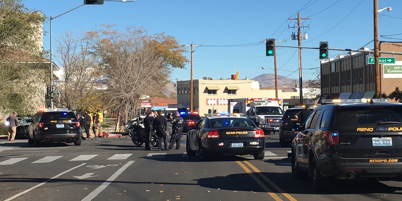 One in custody after high-speed chase, crash close downtown Reno streets