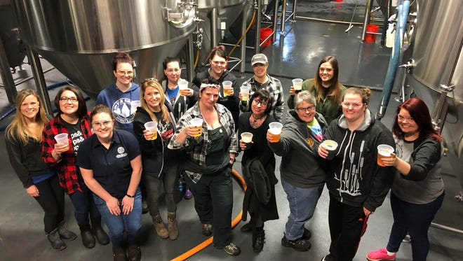 Women representing Indiana's beer industry gathered at Sun King Brewery on International Women's Day to brew a collaborative beer for the Pink Boots Society.
