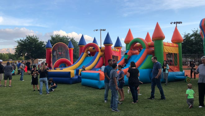 Community members come out to enjoy the Family Fun Fest at Old Mill Park as a part of the 2018 Mesquite Days festivities.