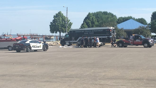 The Green Bay Police Department Dive team and other agencies were called to the Green Bay Metro Boat Launch at 8:22 a.m. Wednesday for a report that a vehicle had been driven into the water.