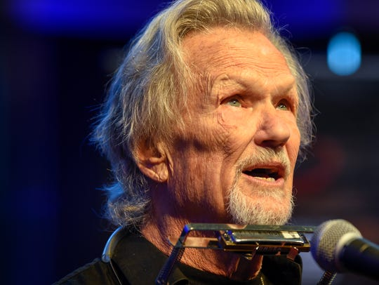 "Kris Kristofferson sings at the press conference regarding the release of ""The Life and Songs of Kris Kristofferson Concert and Film"" in Nashville, Tenn., in October 2017."