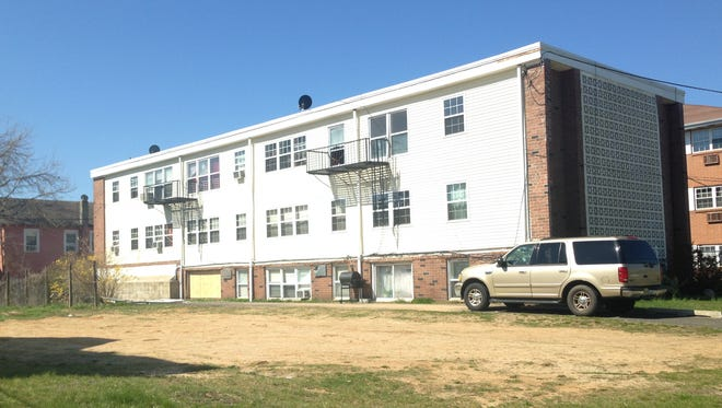 A first-floor apartment in Asbury Park was heavily damaged on April 13, 2016 in an explosion triggered by a buildup of insecticide spray, fire officials said.