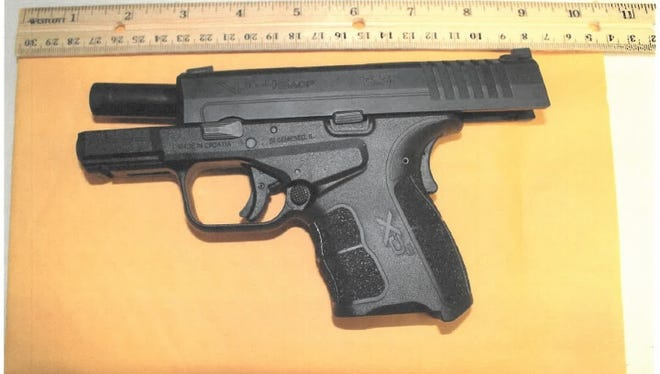 The Deming Police Department provided this photo of a gun recovered in an incident at Deming High School on April 30.