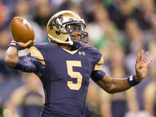 Everett Golson transferred from Notre Dame to FSU for his final collegiate season.