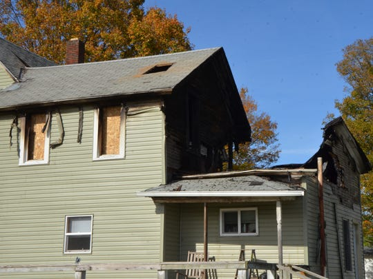 Tuesday's fire damaged the rear of the Newton Township