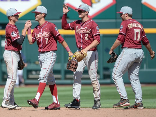 NCAA Baseball: College World Series-Cal State Fullerton vs Florida State
